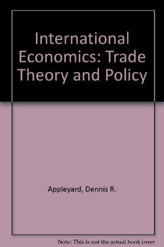 9780071156578: International Economics: Trade Theory and Policy