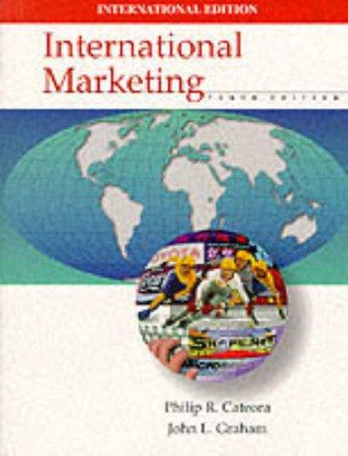 9780071156738: International Marketing (McGraw-Hill International Editions Series)