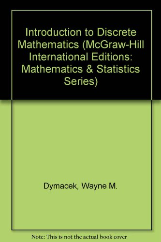 9780071156882: Introduction to Discrete Mathematics (McGraw-Hill International Editions: Mathematics & Statistics Series)