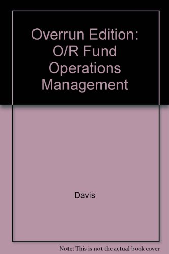 9780071156943: Overrun Edition: O/R Fund Operations Management