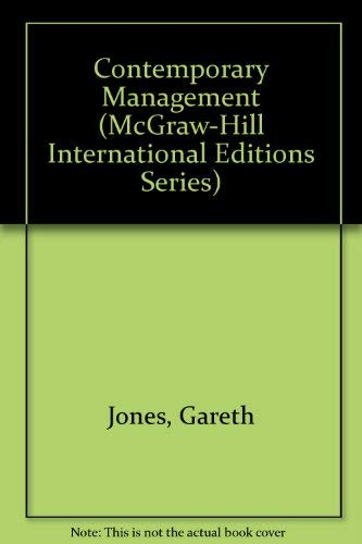 9780071157476: Contemporary Management (McGraw-Hill International Editions)