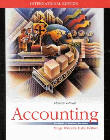 9780071158091: Accounting: The Basis for Business Decisions (McGraw-Hill International Editions Series)