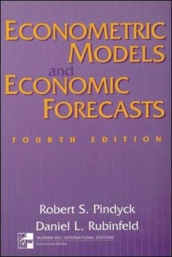 9780071158367: Econometric Models and Economic Forecasts