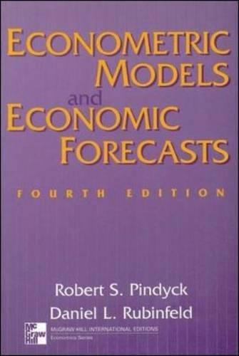 9780071158367: Econometric Models and Economic Forecasts