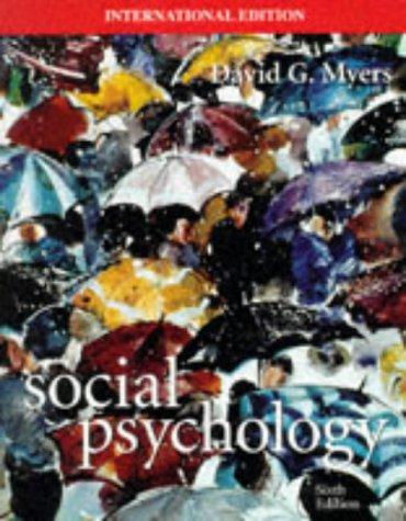 9780071158404: Social Psychology (McGraw-Hill International Editions)