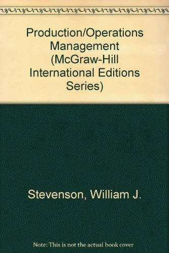9780071158565: Production/Operations Management (McGraw-Hill International Editions)