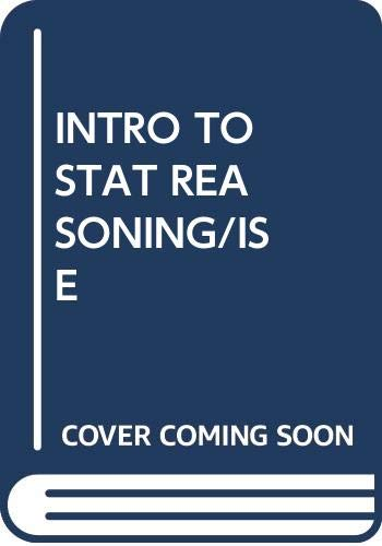 9780071158589: Introduction to Statistical Reasoning (McGraw-Hill International Editions: Statistics & Probability Series)