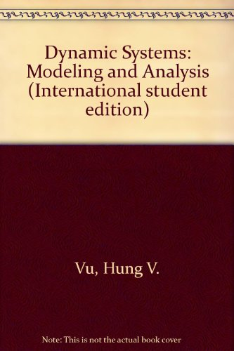 9780071158640: Dynamic Systems: Modeling and Analysis (International student edition)