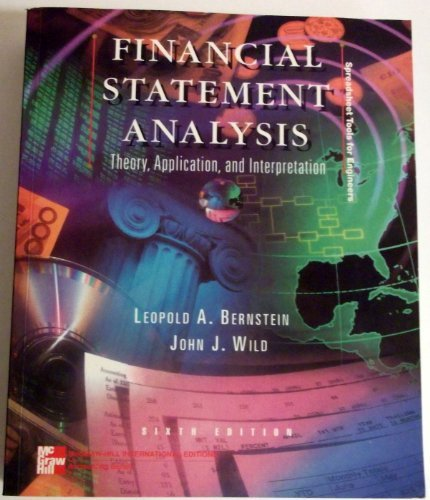 9780071159654: Financial Statement Analysis: Theory, Application and Interpretation