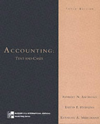 9780071160117: Accounting: Text and Cases (McGraw-Hill International Editions Series)