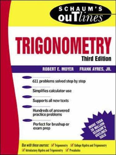 9780071160131: Schaum's Outline of Theory and Problems of Trigonometry (Schaum's Outline)