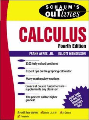 9780071160360: Schaum's Outline of Calculus