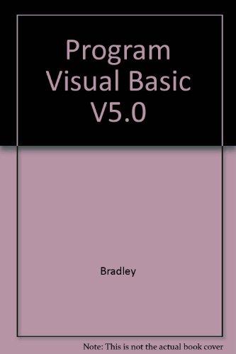 9780071161053: Program Visual Basic V5.0