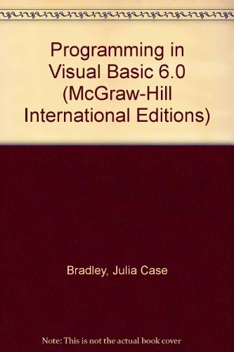 9780071161152: Programming in Visual Basic 6.0 (McGraw-Hill International Editions)