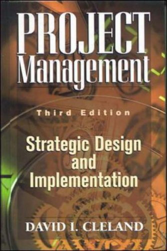 9780071161398: Project Management: Strategic Design and Implementation