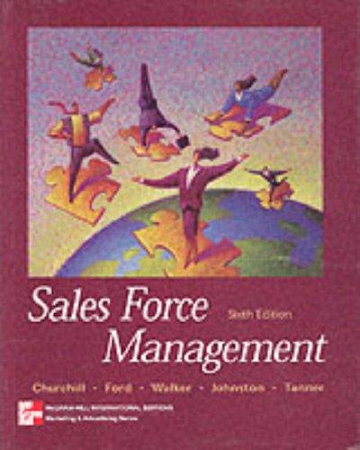 9780071161701: Sales Force Management
