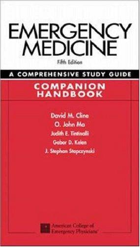9780071162999: Emergency Medicine: A Comprehensive Study Guide, Companion Handbook