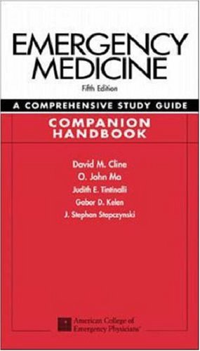 9780071162999: Emergency Medicine: A Comprehensive Study Guide, Companion Handbook
