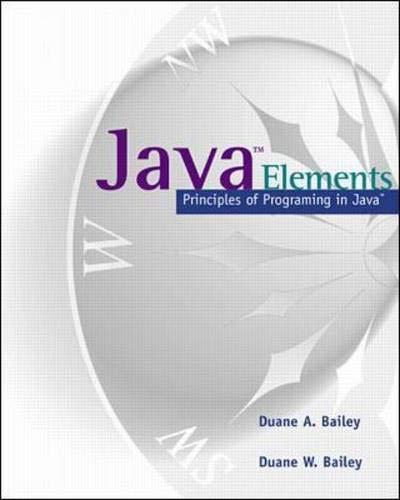 9780071163538: Java Elements: Principles of Programming in Java