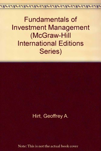9780071163767: Fundamentals of Investment Management (McGraw-Hill International Editions)