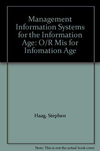 9780071163859: Management Information Systems for the Information Age: O/R Mis for Infomation Age