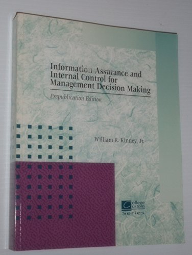 9780071164634: Information Quality Assurance and Internal Control for Management Decision Making