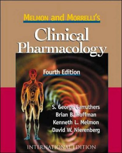 9780071165778: Melmon and Morrelli's Clinical Pharmacology