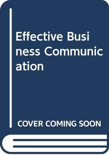 9780071165877: Effective Business Communication
