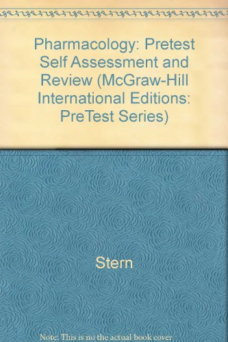 9780071166850: Pharmacology: Pretest Self Assessment and Review (McGraw-Hill International Editions: PreTest Series)