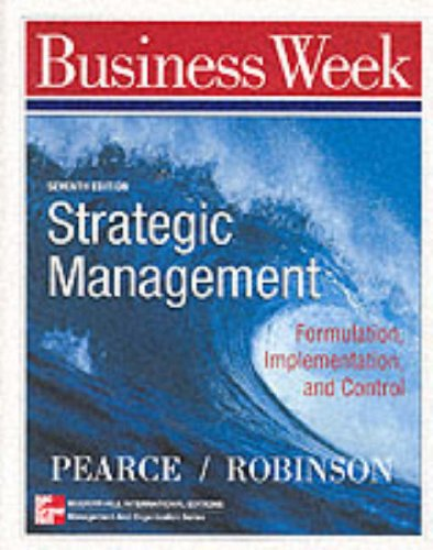 9780071167123: Strategic Management: Formulation, Implementation and Control (Mcgraw-Hill International Editions: Management and Organization Series)