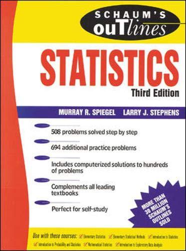 9780071167666: Schaum's Outline of Statistics (Schaum's Outline)