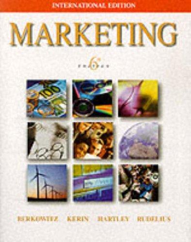 9780071168304: Marketing (McGraw-Hill International Editions Series)