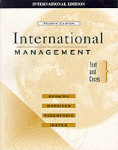 9780071169349: International Management: Text and Cases (McGraw-Hill Advanced Topics in Global Management)