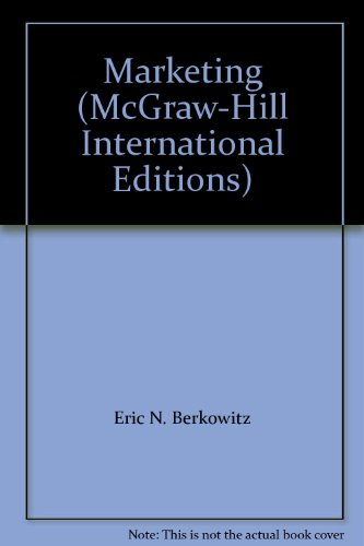 9780071169356: Marketing (McGraw-Hill International Editions)