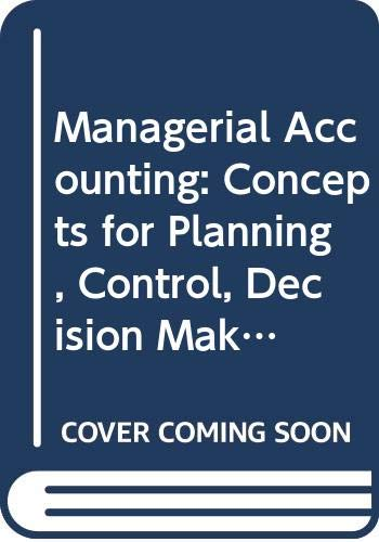 9780071179041: Managerial Accounting
