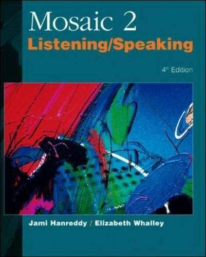 9780071180184: Mosaic Two -Listening and Speaking