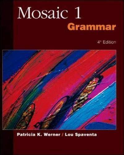 9780071180221: Mosaic One: Grammar