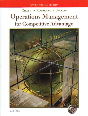 Operations Management by Chase Aquilano Jacobs - AbeBooks