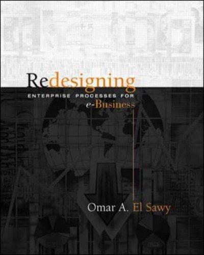 Redesigning Enterprise Processes for E-Business: El-Sawy, Omar