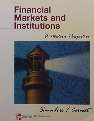 9780071181334: Financial Markets and Institutions (Mcgraw-Hill International Editions: Finance Series)