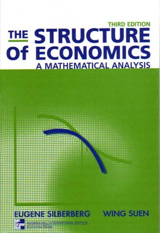 9780071181365: The Structure of Economics: A Mathematical Analysis