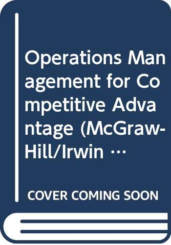 9780071182331: Operations Management for Competitive Advantage.