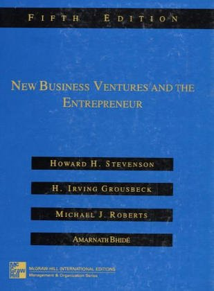 9780071183147: New Business Ventures and the Entrepreneur