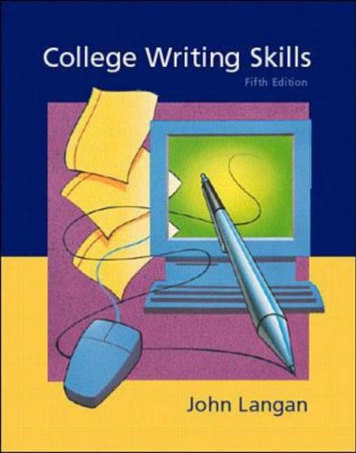 langan college writing skills Grounded in john langan's four bases unity, coherence, sentence skills, and support college writing skills with readings employs a unique personalized learning plan to address student deficits in grammar and mechanics and to free instructional time for activities emphasizing writing process and critical thinking.