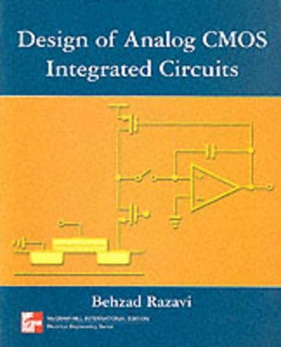 9780071188159: Design of Analog CMOS Integrated Circuits