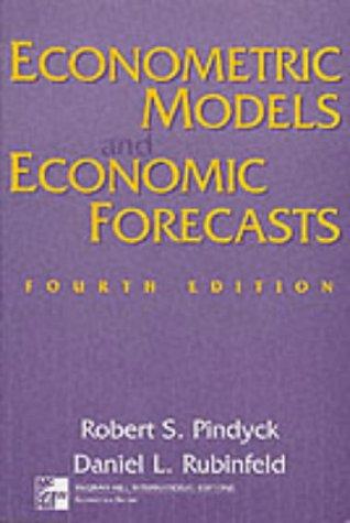 9780071188319: Econometric Models and Economic Forecasts