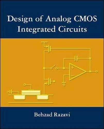 9780071188395: DESIGN OF ANALOG CMOS INTEGRATED CIRCUIT