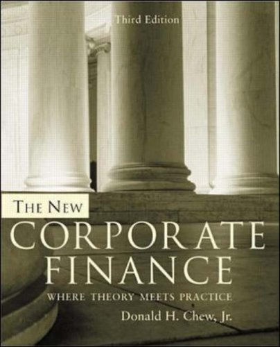 9780071188531: The New Corporate Finance: Where Theory Meets Practice