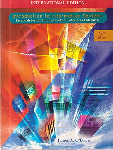 9780071188999: Introduction to Information Systems (McGraw-Hill International Editions: Management Information Systems Series)