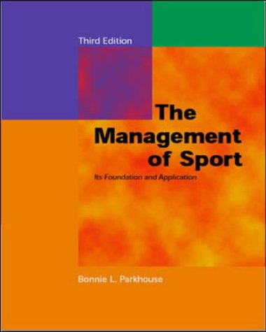 9780071189408: Management of Sport (McGraw-Hill International Edition: Health Professions)